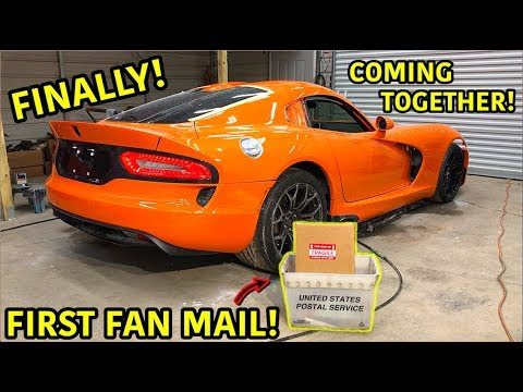 Rebuilding A Wrecked 2014 Dodge Viper TA TIME ATTACK PART 18