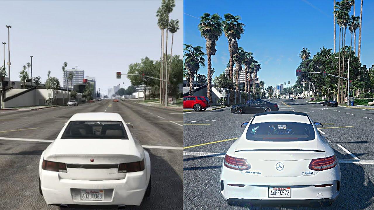 GTA 5 Xbox 360 Vs PC Ultra Realistic 2018 Graphics Mod