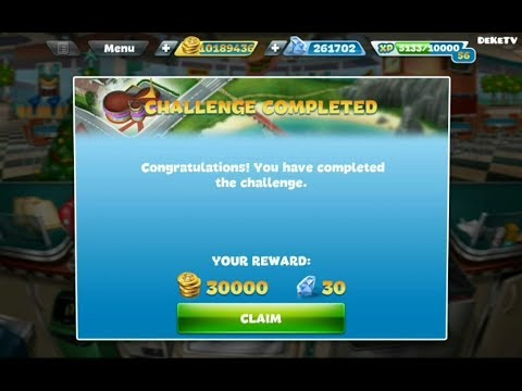Cooking Fever Fast Food Court Challenge Part 5   Completed The Challenge 15 Levels