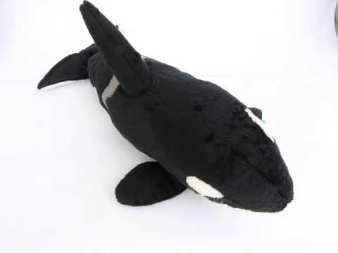 Orca Killer Whale Soft Toy With Authentic Sound
