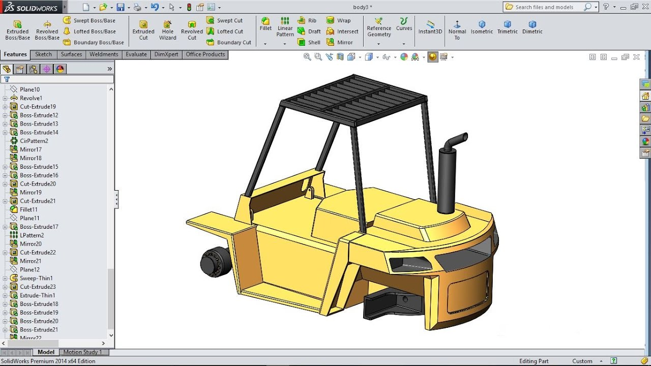 maxresdefault solidworks tutorial forklift 22 cylinder mounting bracket youtube