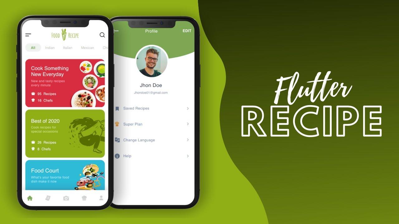 Recipe App - Part 1 - Flutter UI - Speed Code