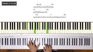 เพลง ต้นไม้ของพ่อ เวอร์ชั่นเปียโน อย่างง่าย พร้อมคอร์ด สำหรับฝึกเล่นตาม