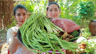 Long Bean Cooking Beef Grocery - Cooking With Sros