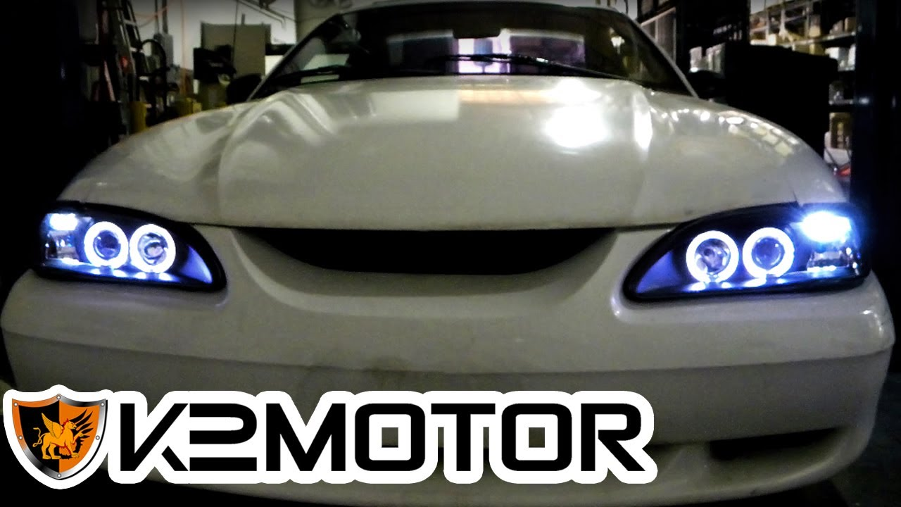 K2 motor installation video 1994 1998 ford mustang 1 piece k2 motor installation video 1994 1998 ford mustang 1 piece projector headlights youtube sciox Images