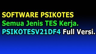 Aplikasi Psikotes Software Tes Psikologi | PSIKOTESV21DF4 screenshot 3