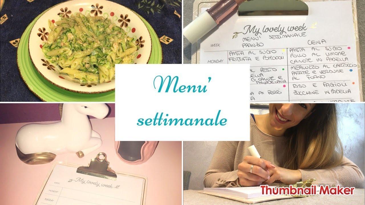 Come Organizzare I Pasti Settimanali come organizzare un menù settimanale sano e vario!