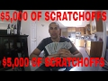 BUYING $5,000 OF SCRATCHOFF TICKETS ----SCRATCHING OFF ALL $5,000 WORTH --- YOU GOTTA SEE IT!