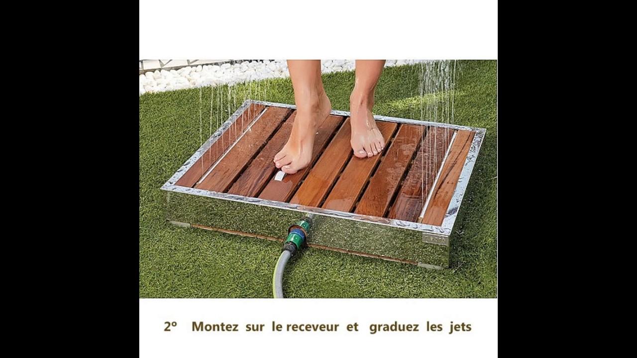 receveur de douche de jardin