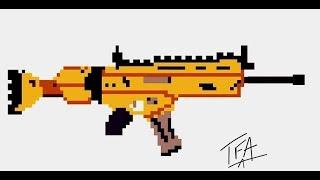Dibujando S Kar De Fortnite En Pixel Art From Youtube - The