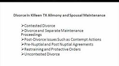 Divorce Lawyers Killeen Texas