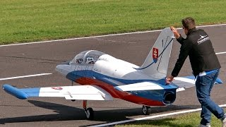 THE BIGGEST RC TURBINE JET MODEL IN THE WORLD L-39 ALBATROS XXXL 68 KG SCALE 1:2,7 GIGANTIC !!!