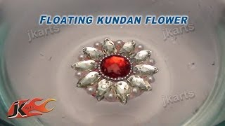 DIY Floating Kundan Flower Rangoli |  Ho...