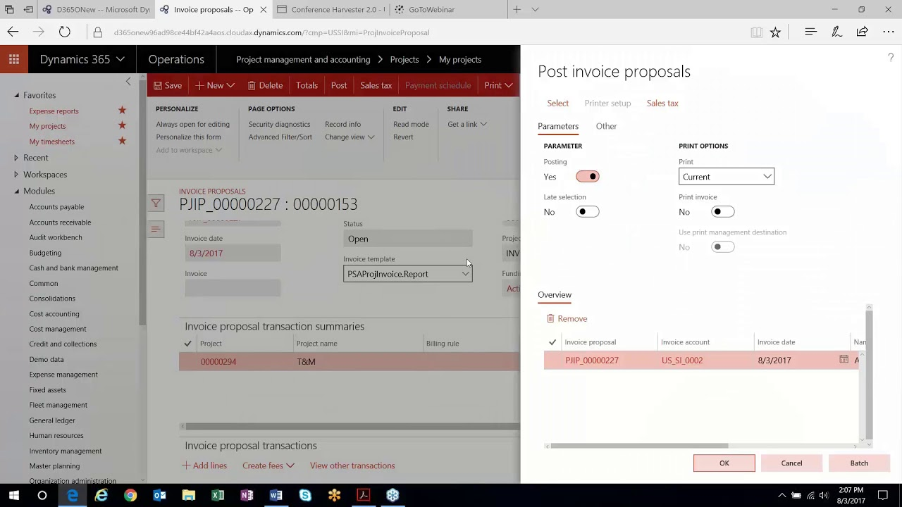 Recognizing Revenue in Time & Materials Projects in Dynamics 365 for  Finance & Operations