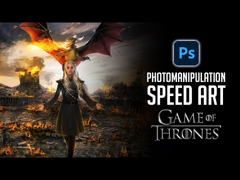 Photomanipulation Timelapse   Game Of Thrones Inspired Speed Art And Chat!