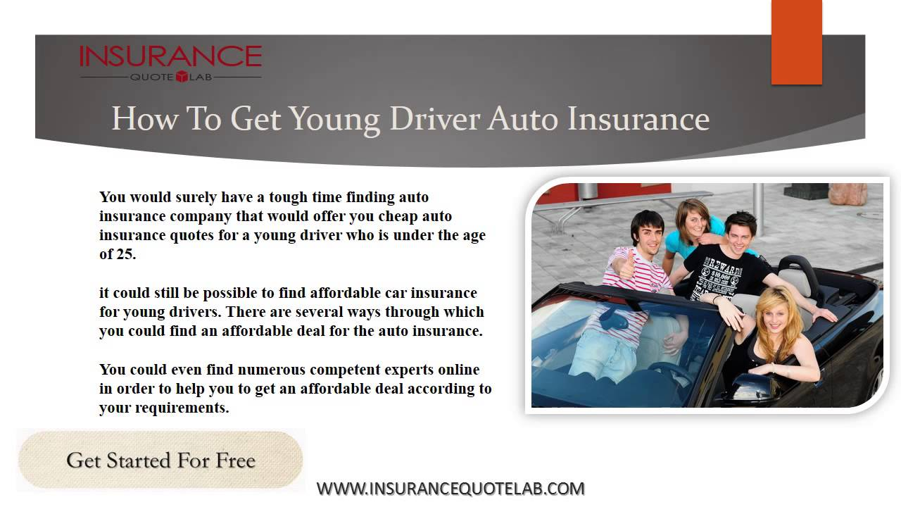 Young Driver Cheap Insurance Quotes On Lowest Rate Buy Now Get