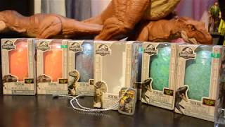 Jurassic World Bath Fizzie Eggs w dog tags