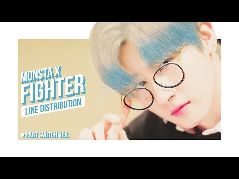 MONSTA X - Fighter (Part Switch) Line Distribution (Color Coded)