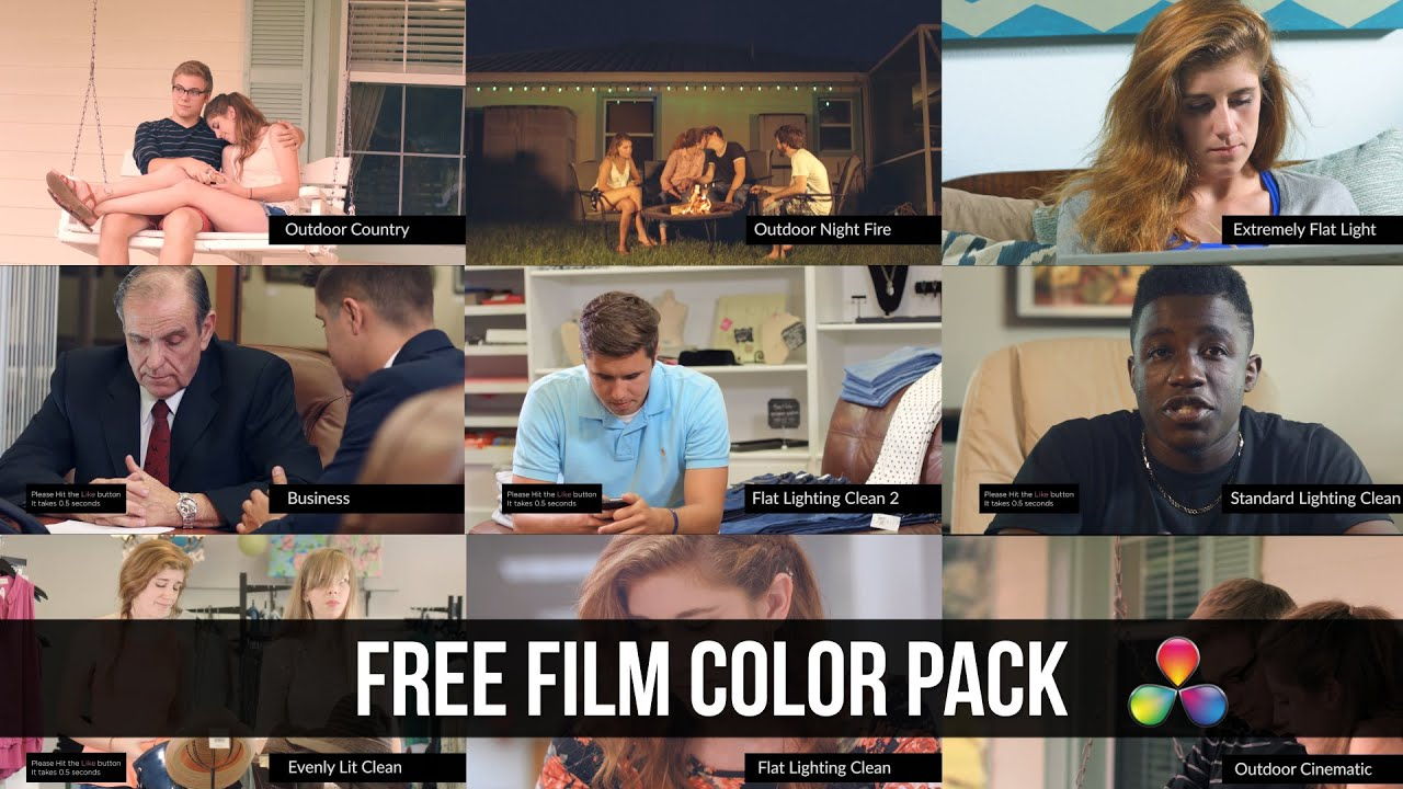 DaVinci Resolve FREE LUT Color Correction Pack Giveaway  YouTube