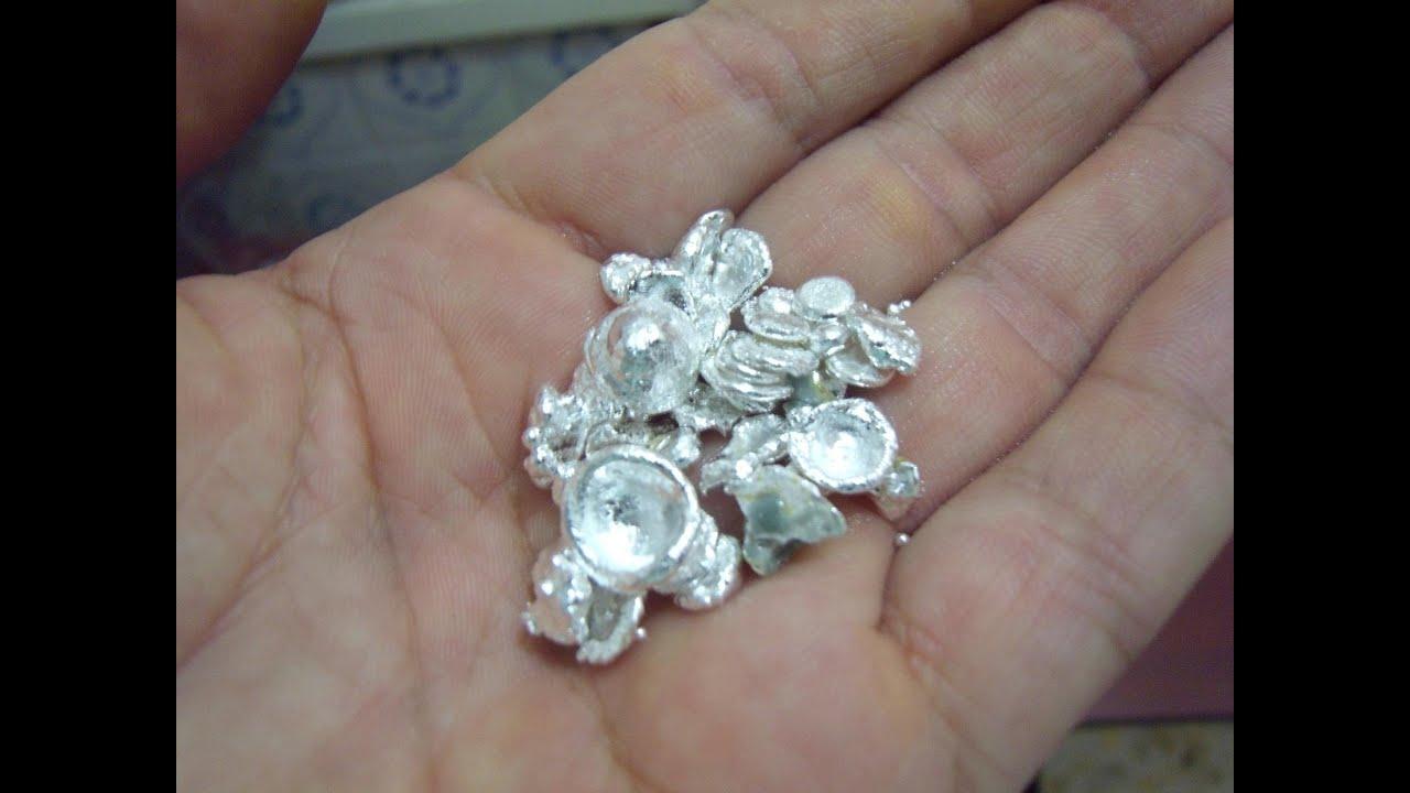 Como extraer plata de contactos electricos parte 3 - Como se pule la plata ...