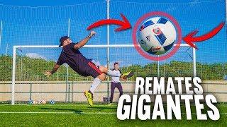REMATES AÉREOS GIGANTES ¡Retos de Fútbol!