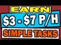 MAKE $3 - $7 Per Hour - 8 Sites To Earn Money Online Doing Simple Tasks