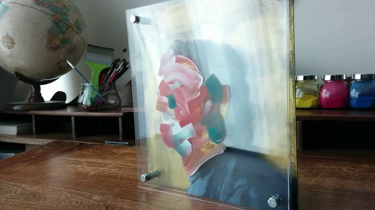 Bevorzugt Peinture acrylique sur plexiglas 22x24 - YouTube AE79