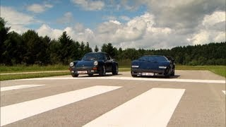 Porsche 911 Turbo vs. Lamborghini Countach - GRIP - Folge 245 - RTL2