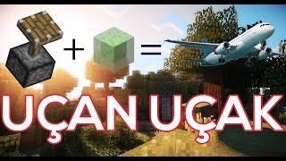 Minecraft PE Modsuz Uçak Yapımı [Slime Redstone İcatları]