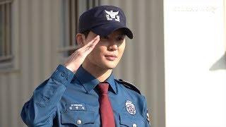 김준수는 5일 오전 경기도 수원시 장안구 경기남부지방경찰청에서 전역...