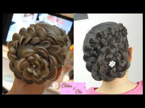 Peinado: Recogido En Flor | Peinados Con Trenzas | Peinados Elegantes