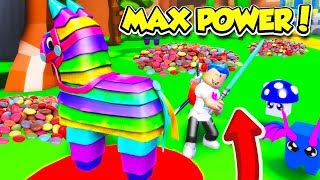 J'ai eu le MAX POWER SWORD et PET dans PINATA SIMULATOR et got UNLIMITED CANDY! (Roblox)