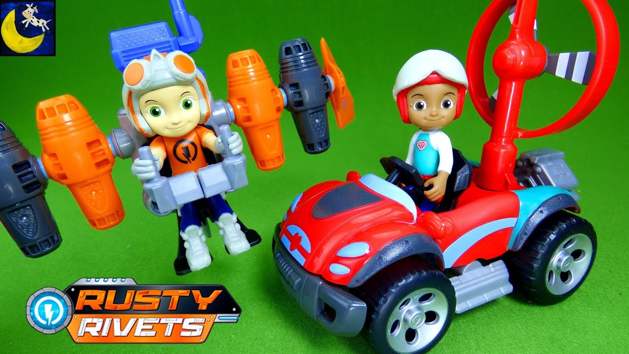 Rusty Rivets Toys Jet Pack And Ruby S Buggy Build Botasaur