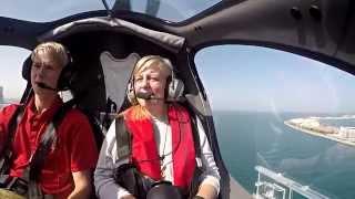 Great fun flying above the Palm Jumeirah Island  | #SkydiveDubai