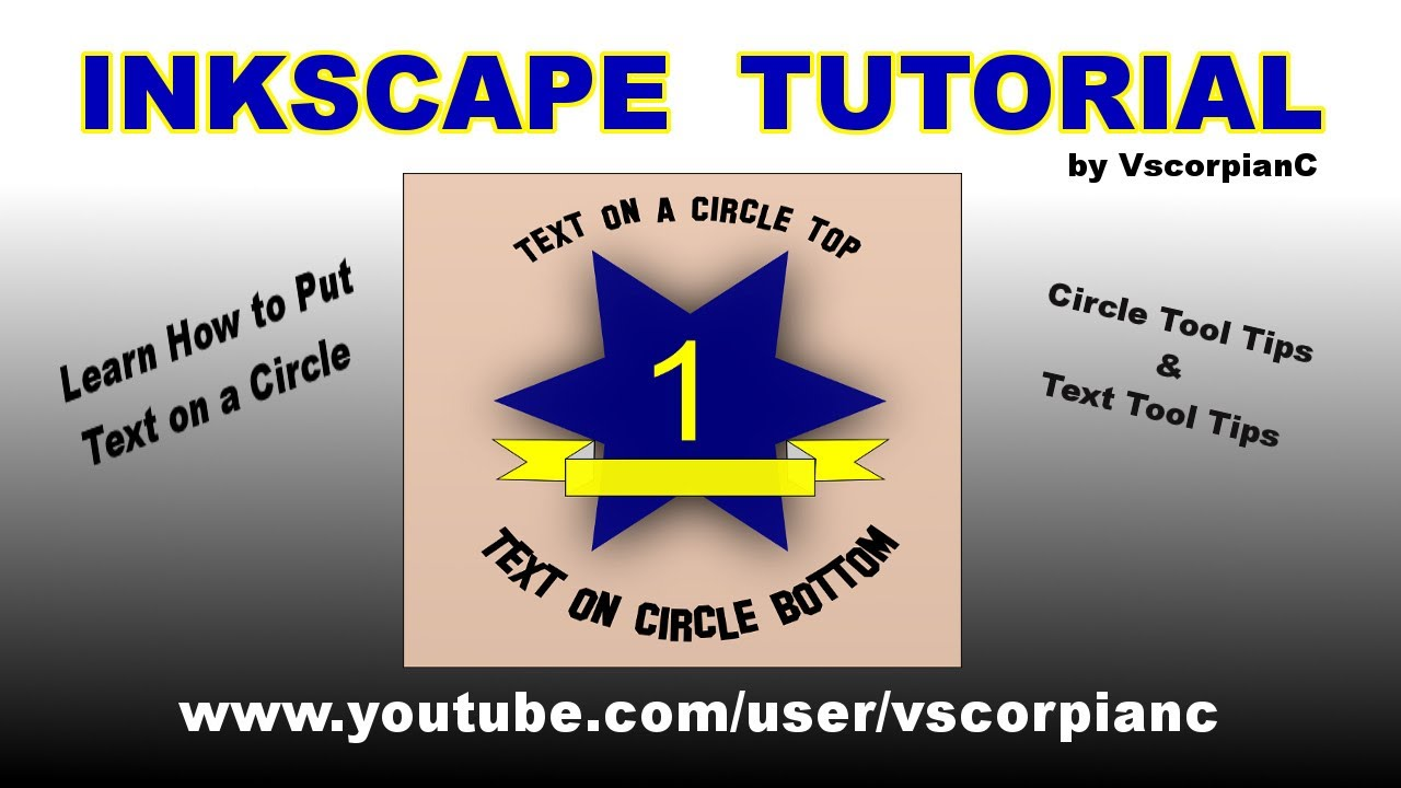 Inkscape Tutorial Text on a Circle Path by VscorpianC - YouTube