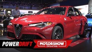 2019 Alfa Romeo Giulia & Stelvio Quadrofoglio : 4-door Italians: 2018 LA Auto Show : PowerDrift