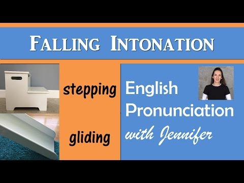 Falling Intonation - English Pronunciation with JenniferESL