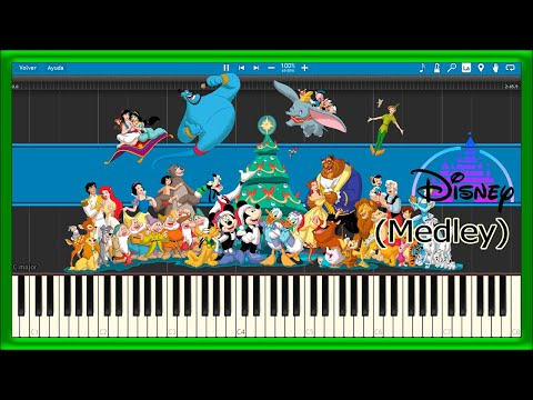 Disney Medley (Piano Tutorial)