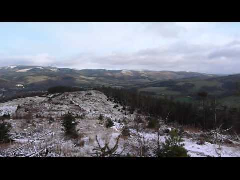 360 degrees view from Cademuir Hill above Peebles Scotland December 2011