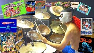 【懐かしのファミコンメドレー】激しく叩いてみた! NES  MUSIC MEDLEY - Drum Cover