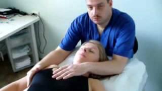 Остеопатия  краткий сеанс: лечение лежа на спине