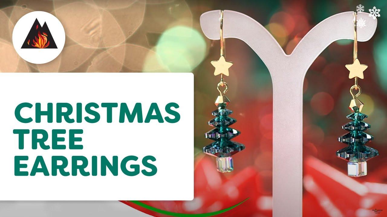 87ba7bf3f Swarovski® Christmas Tree Earrings - #H825. Fire Mountain Gems and Beads