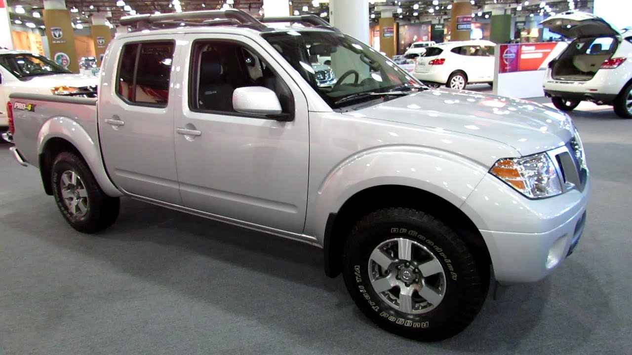 2013 Nissan Frontier Pro 4X Off Road Crew Cab   Exterior And Interior  Walkaround   2013 NY Auto Show   YouTube