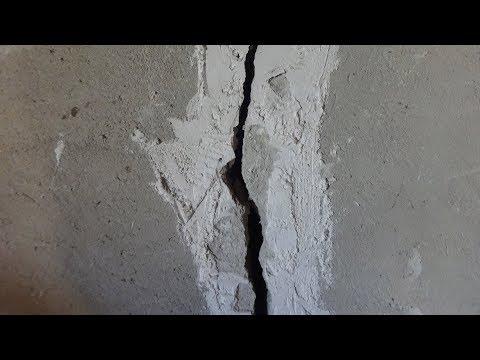 Как ОСТАНОВИТЬ ТРЕЩИНУ в стене/Простой способ устранения трещины!!!