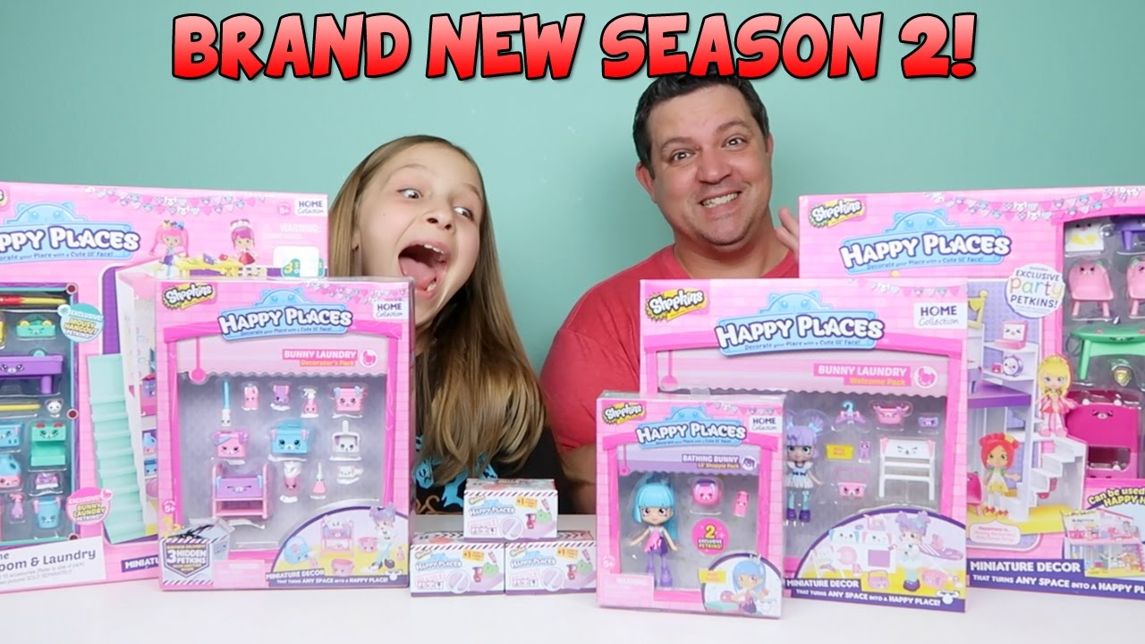 Download BRAND NEW Happy Places Shopkins Season 2 - Playsets and Lil Shoppies