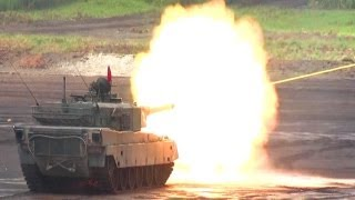 Japan's Mitsubishi Type 90 Main Battle Tank Rheinmetall L44 120mm gun JGSDF 2013