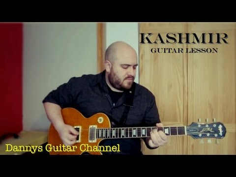 Led Zeppelin - Kashmir - Jimmy Page - Guitar Lesson - DADGAD Tuning