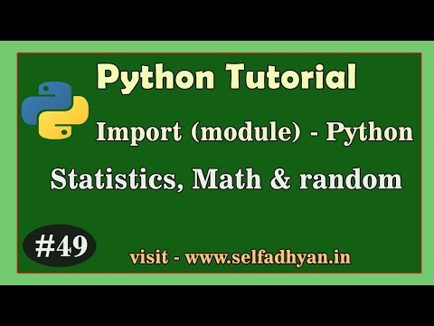 Import Library - Math in Python | Statistic in Python | Module Python - Python Tutorial in Hindi thumbnail
