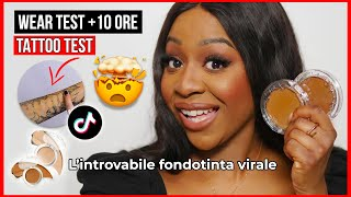 L'HO TROVATO!! 😭 Kvd Good Apple Foundation Balm Review ITA Dark Skin | Wear Test 10HR TikTok Viral