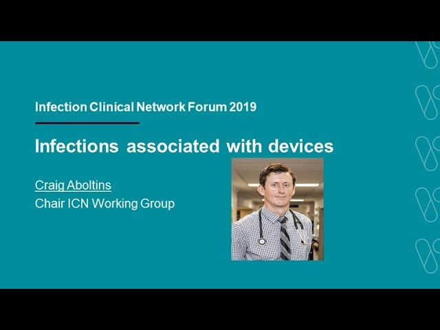 Infections associated with devices